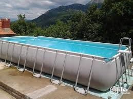 Steel frame above ground pool