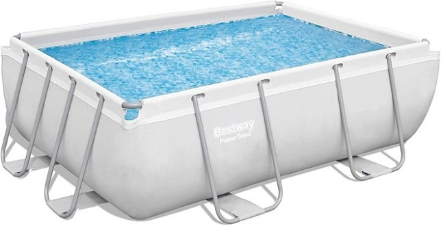 Bestway 56631E Power Steel Rectangle Above Ground Pool
