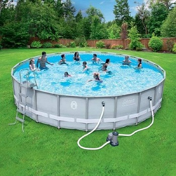 Coleman 22 × 52 Power Steel Frame Above The Ground Swimming Poo