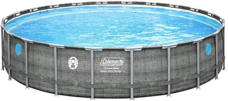 Coleman 22 × 52 Power Steel Swim Visa II Swimming Pool Set