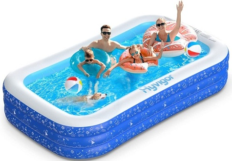 Hyvigor Family Inflatable Rectangle Above Ground Pool