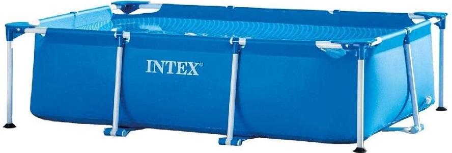 "Intex 8.5"" × 5.3 × 2.14"" Rectangular Frame Above Ground Backyard Swimming Pool"