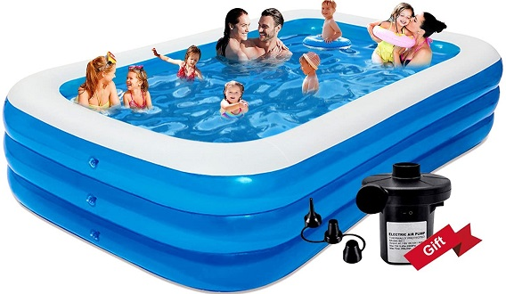 Raoccupy Rectangle Above Ground Pool For Kids